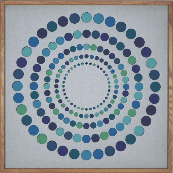"""Papierkunst """"Sparkling"""" im 50x50cm Eichenholzrahmen"""