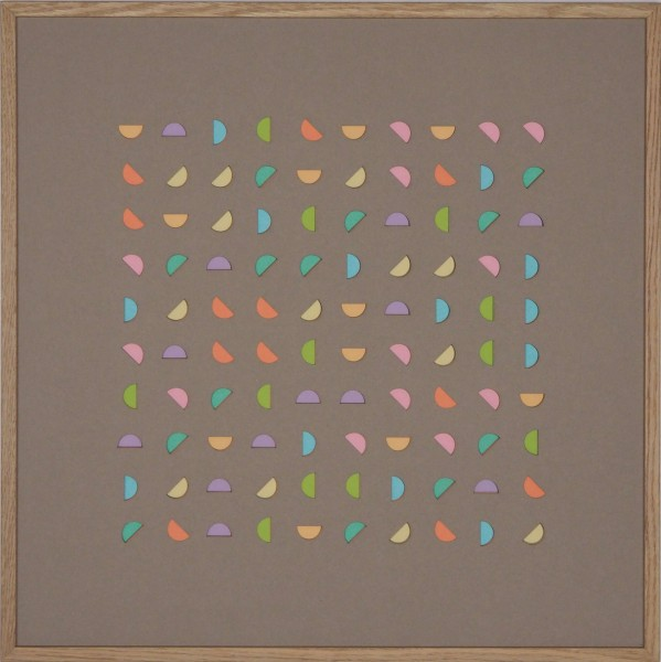 """Papierkunst """"Zauber der Farben"""" im 50x50cm Eichenholzrahmen"""