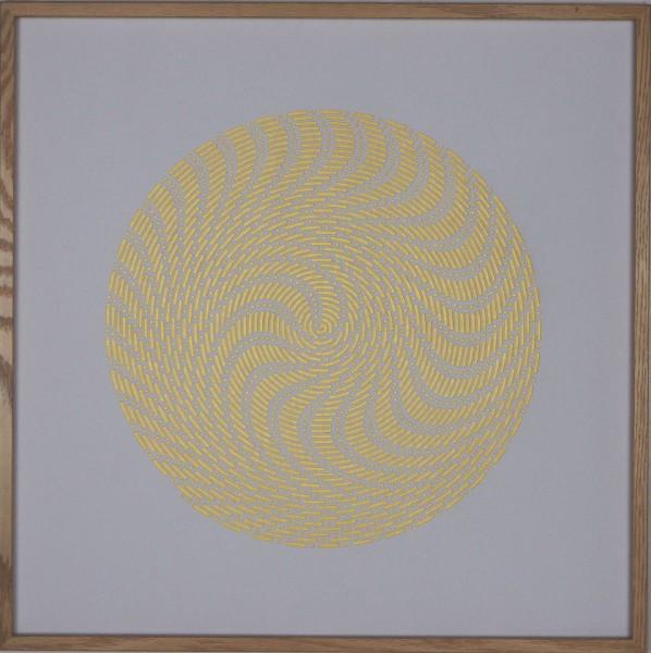 """Papierkunst """"Schneekristall"""" im 50x50cm Eichenholzrahmen"""