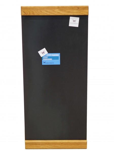 Magnetwand / H 70, B30 / Stahl schwarz & Wildeiche