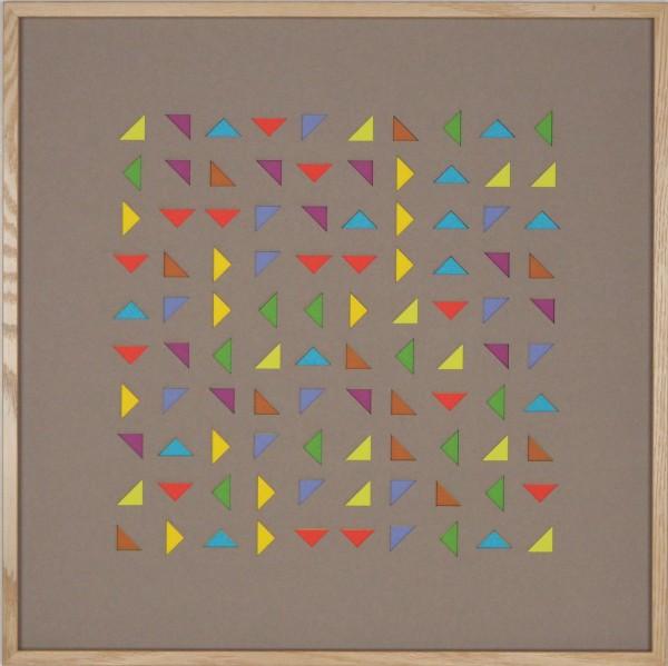"""Papierkunst """"Magie der Farben"""" im 50x50cm Eichenholzrahmen"""